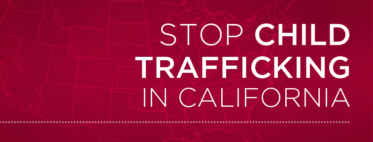 Stop child trafficking in California