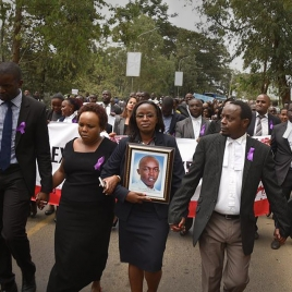#JusticeinKenya Willie Kimani #FindLawyer Willie Peaceful march demanding justice on behalf of Willie Kimani and two others.