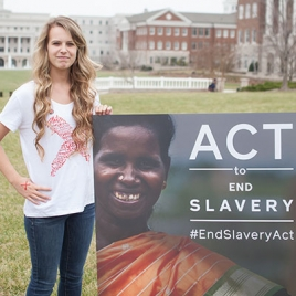 Students support the #EndSlaveryAct