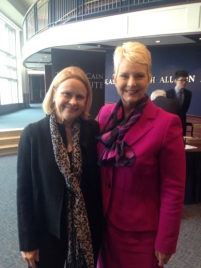 Holly Burkhalter and Cindy McCain