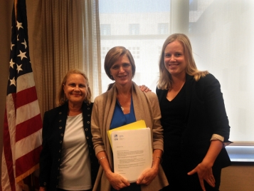 IJM delivers petitions to US Ambassador to the UN, Samantha Power