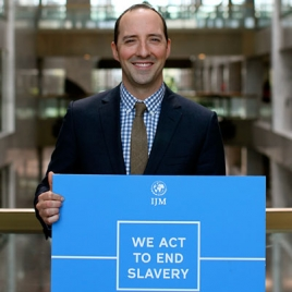 Actor Tony Hale advocates with International Justice Mission for the End Modern Slavery Initiative.